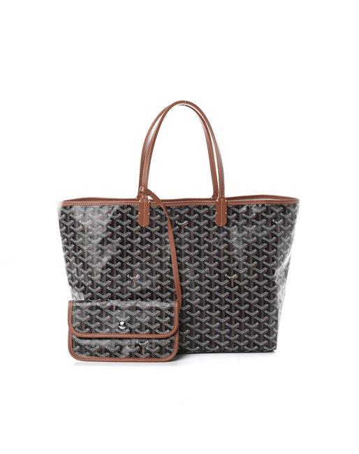 Goyard St. Louis Pm Brown Coated Canvas Tote Goyard St. Louis Pm Brown Coated Canvas Tote Image 1