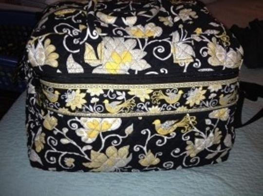 Vera Bradley Black, Yellow, White Travel Bag