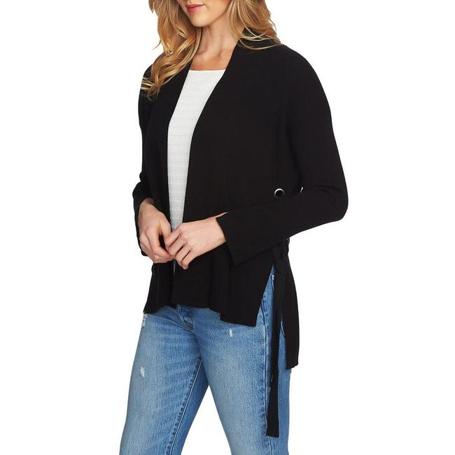 1.STATE Side Lace-up Cardigan Black Sweater 1.STATE Side Lace-up Cardigan Black Sweater Image 1
