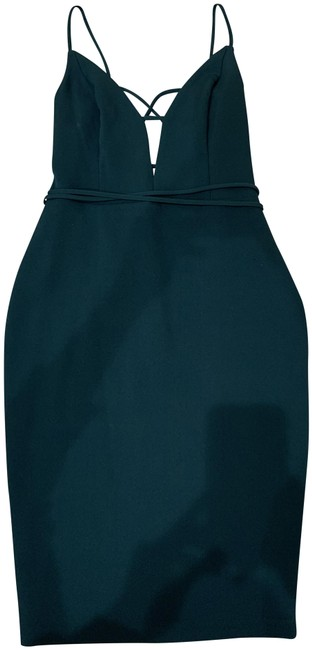 Item - Dark Teal Green Lace Up Mid-length Night Out Dress Size 6 (S)