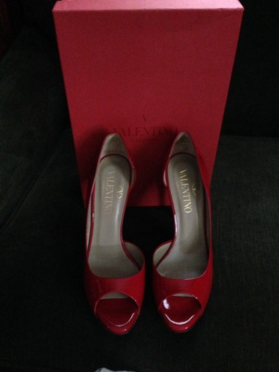 Valentino Red Paten Leather Pumps