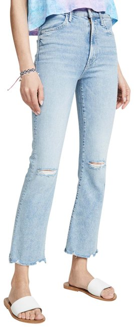 Item - Blue - Drinking By The Pool Light Wash Hustler Ankle Chew Capri/Cropped Jeans Size 26 (2, XS)