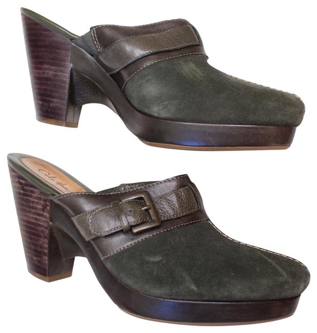 Item - Green | Suede Pointed Mules/Slides Size US 8 Regular (M, B)