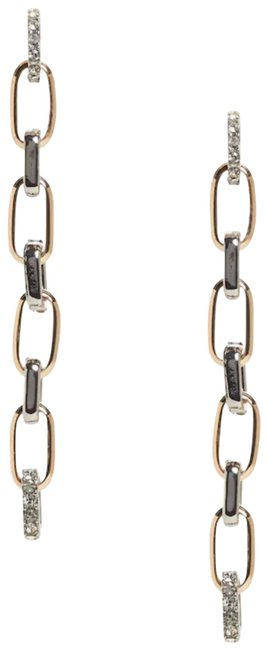 Item - Gold Linear Pave Link Earrings