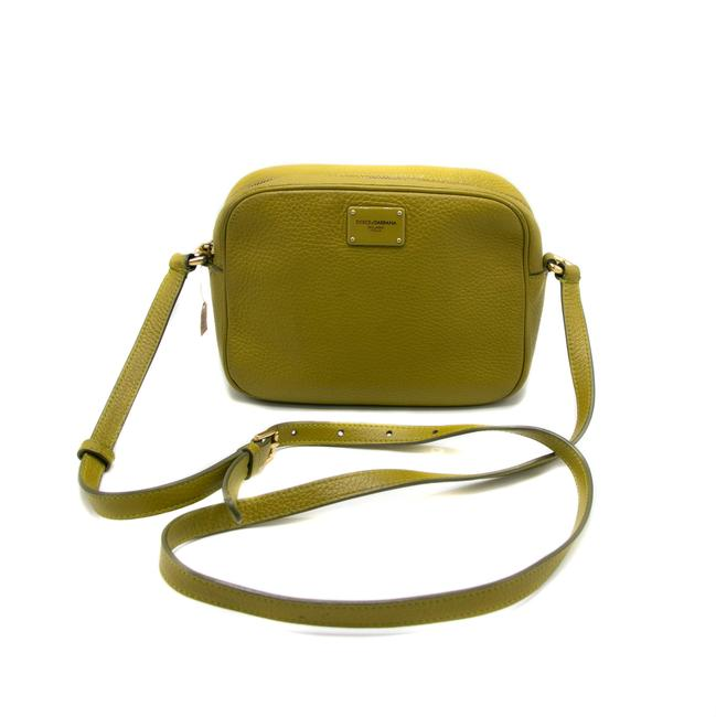 Item - Textureted Small Green Leather Shoulder Bag
