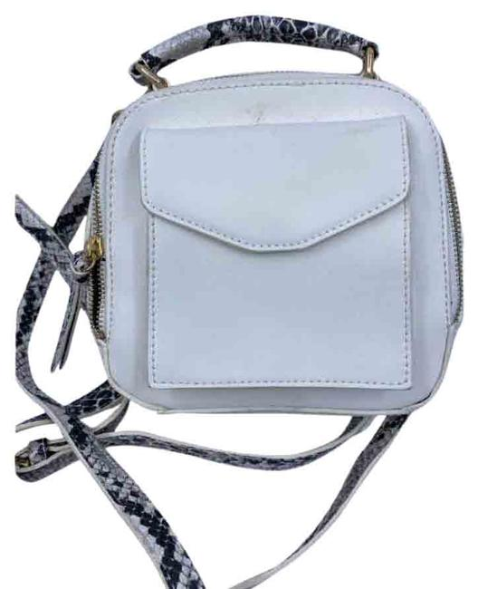 Item - Pack White Faux Leather Backpack