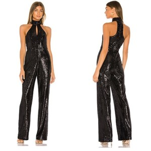 Item - Cinq à Sept Black Revolve Shelby Sequin Romper/Jumpsuit