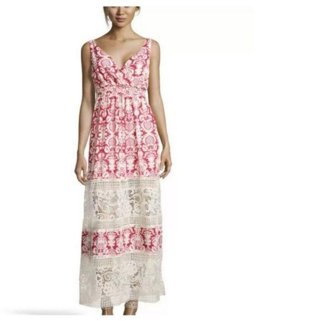 Item - Red Cream Brooklyn Anthro Sunday In Floral Lace Long Casual Maxi Dress Size 0 (XS)