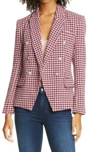 Item - Red Kenzie Double Breasted Houndstooth Tweed Violet Magenta Blazer