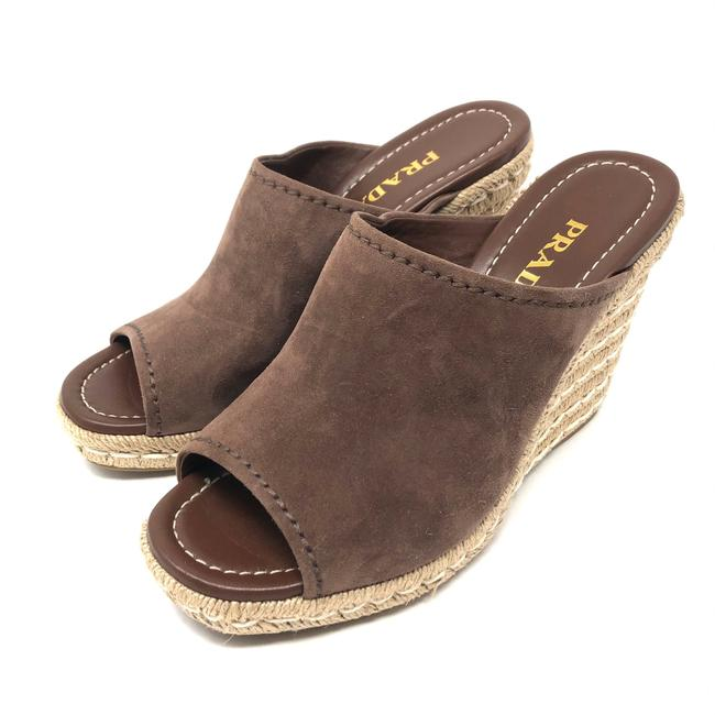 Item - Brown Suede Espadrille Wedges Mules/Slides Size EU 40.5 (Approx. US 10.5) Regular (M, B)