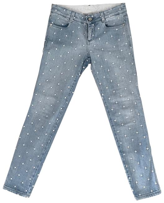 Item - Blue Light Wash Star Embroidered Skinny Jeans Size 0 (XS, 25)