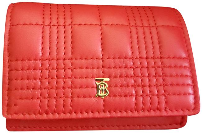 Item - Red Quilted Leather Cardholder with Chain Wallet