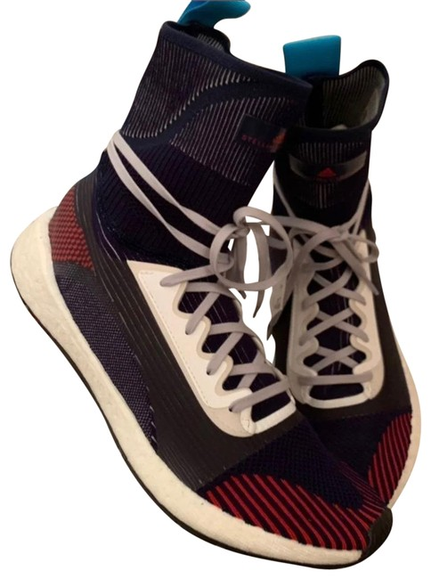 Item - Blue/ Red/White Pulseboost Hd Mid Sneakers Size US 9 Regular (M, B)