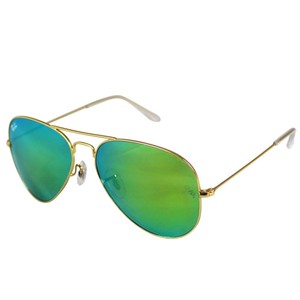 736f43907be5c Ray-Ban Authentic Ray-Ban Aviator Flash Sunglasses RB3025 Green Mirror Lens  With Gold
