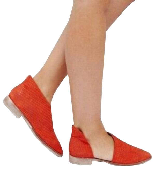 Item - Orange Royale D'orsay Pointed Toe Textured Cutout Flats Size EU 40 (Approx. US 10) Regular (M, B)