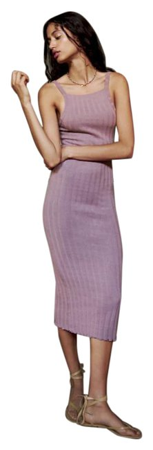 Item - Purple New Dusty Long Ribbed 6050/423 Mid-length Casual Maxi Dress Size 8 (M)