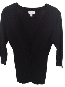 A Pea In The Pod Black A Pea in the Pod button up, belted cardigan.