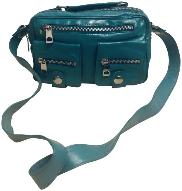 Item - Smooth Turquoise Leather Satchel