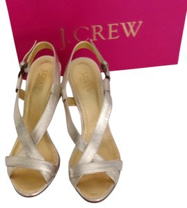 J.Crew Platinum Gold Sandals