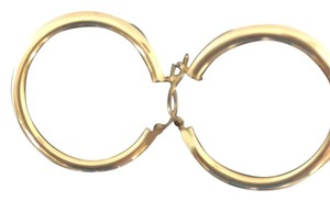Other Large 14k YG hoop earrings
