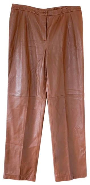 Item - Brown Leather In Pants Size 18 (XL, Plus 0x)