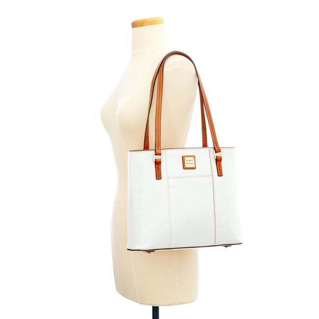 Item - Lexington Pebble Grain Small Shopper White Leather Tote