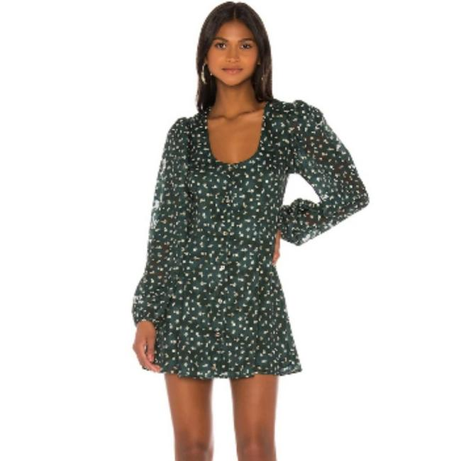 Item - Green Wilder In Hunter Floral Short Casual Dress Size 4 (S)