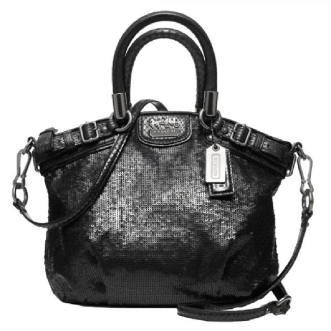 Item - Crossbody Sophia Limited Edition Madison Sequin Mini Black-antique Silver Leather-sequin-sateen Tote