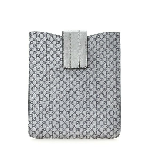 Item - Silver Leather Microguccissima Ipad Case Wallet
