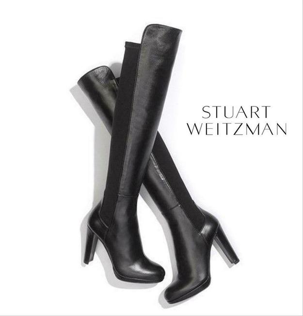 Item - Black Highway Platform Heel Over The Knee Boots/Booties Size US 8.5 Regular (M, B)