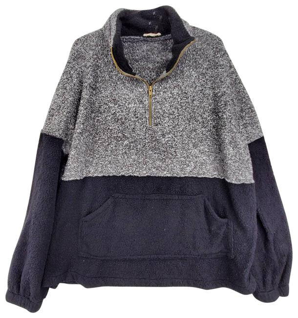 Item - Color Block Faux Sherpa Gray Sweater