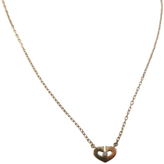 Item - Rose Gold Heart with Diamond Pendant Necklace