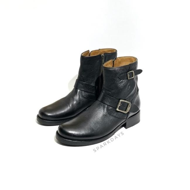 Item - Black Leather Buckle Ankle | Boots/Booties Size US 9 Regular (M, B)