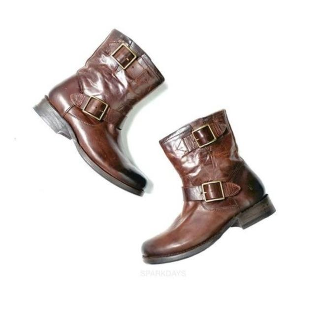 Item - Brown Buckle Leather Classic Boots/Booties Size US 6 Regular (M, B)