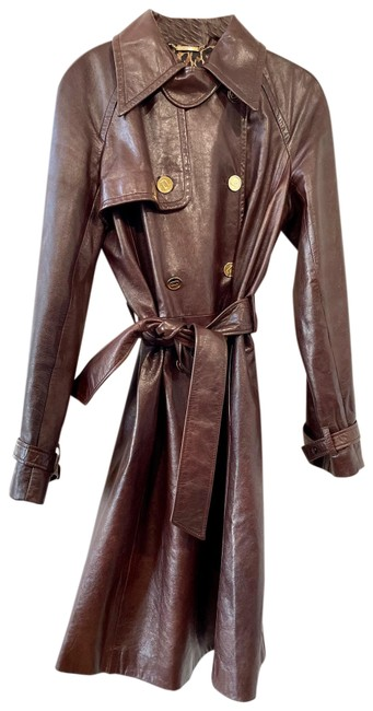 Item - Brown Dolce and Gabbana Trench Coat Jacket Size 12 (L)