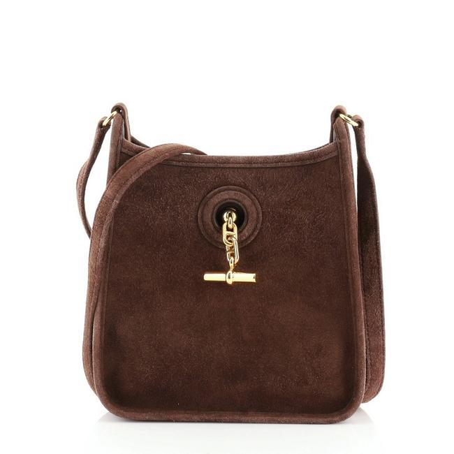 Item - Vespa Tpm Brown Suede Leather Hobo Bag