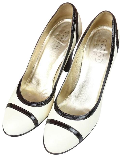 Item - Cream Cassia Cream/Black Round Pumps Size US 9 Regular (M, B)