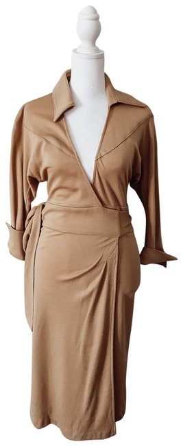 Item - Brown Wrap Mid-length Formal Dress Size 0 (XS)