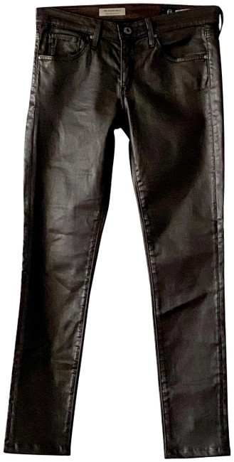 Item - Brown Coated Ankle Super Skinny Capri/Cropped Jeans Size 26 (2, XS)