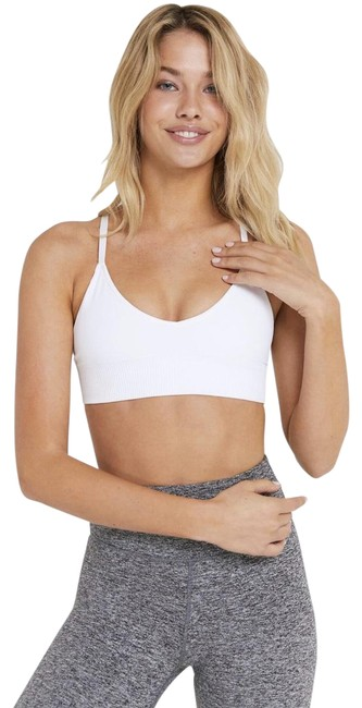 Item - White Selene Triangle Yoga Bra Activewear Top Size 4 (S)