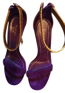 Gucci Gold and purple Sandals