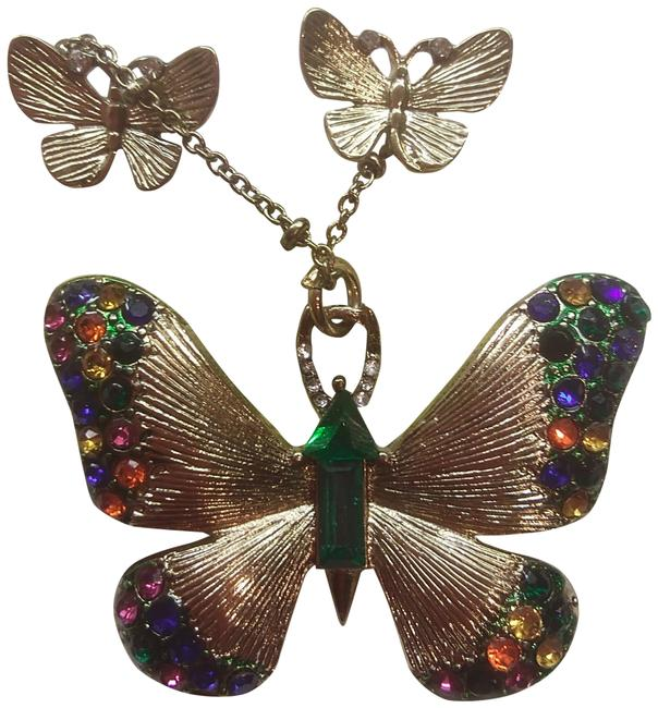 Item - Gold New Butterfly Necklace & Earrings