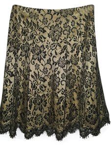 Cynthia Steffe Skirt Yellow with Black Lace