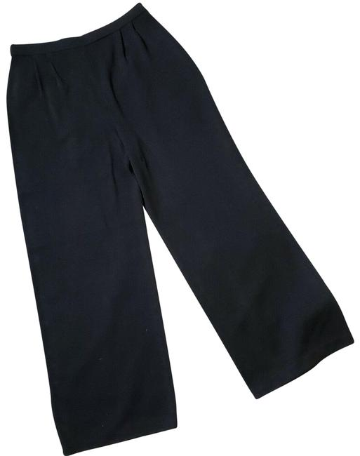 Item - Black Santana Knit Wool Blend Pull On Pants Size 12 (L, 32, 33)