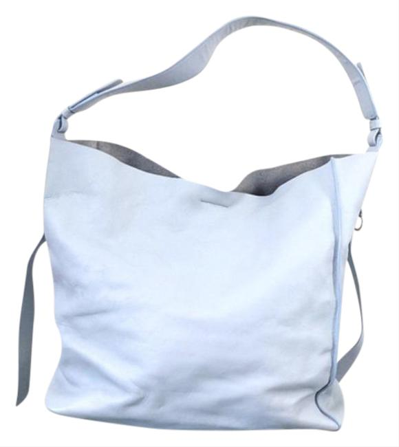 Item - Paradise North South Blue Leather Tote