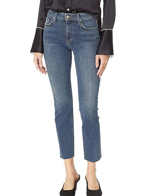 Item - Blue Dark Rinse Milla The High Ankle Straight Leg Jeans Size 0 (XS, 25)