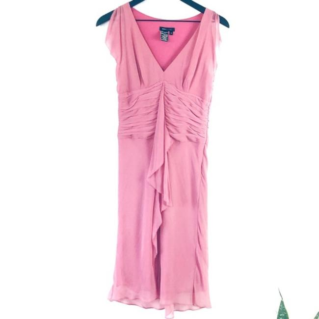 Item - Pink Ruffle Mid-length Night Out Dress Size 4 (S)