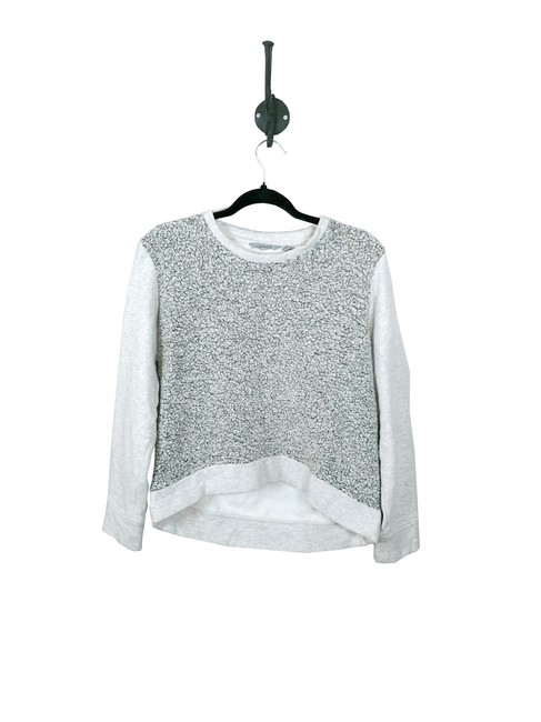 Item - Gray Sherpa Pull Over Activewear Outerwear Size 4 (S)