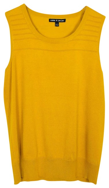 Cable & Gauge Gold New Tank Top/Cami Size 8 (M) Cable & Gauge Gold New Tank Top/Cami Size 8 (M) Image 1