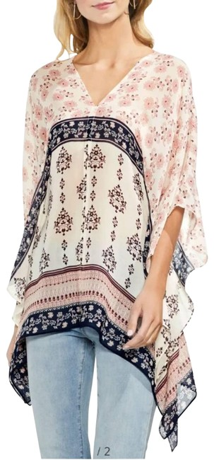 Item - Pink XS Wildflower Sheer Poncho Xs/S Tunic Size 4 (S)